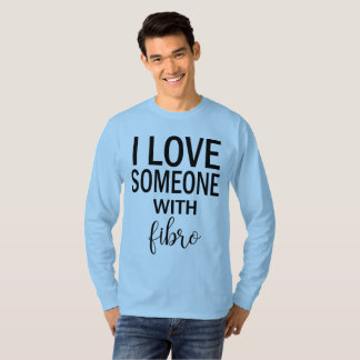 Camiseta Amo alguien con la manga larga de los hombres