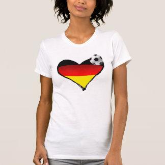 Camiseta Amo amor del alemán del corazón del fútbol de