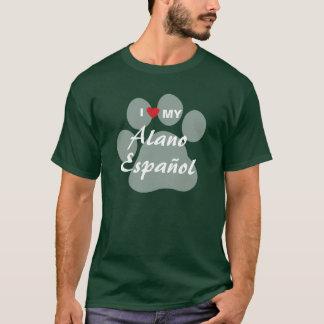 Camiseta Amo (corazón) mi Alano Espanol