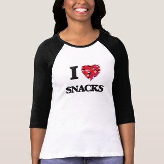 Camiseta Amo diseño de la comida de bocados