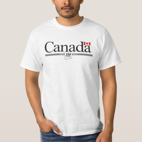 Camiseta Amo el 150o aniversario de Canadá