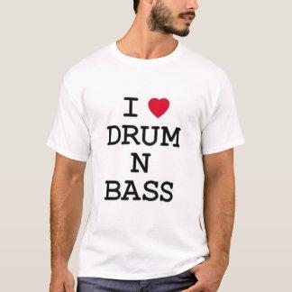 Camiseta amo el bajo del tambor n