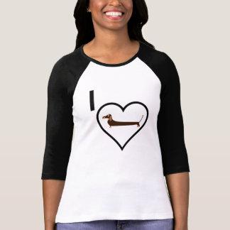 Camiseta Amo el Dachshund