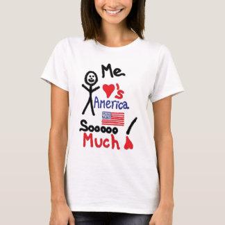 Camiseta Amo el dibujo animado de América