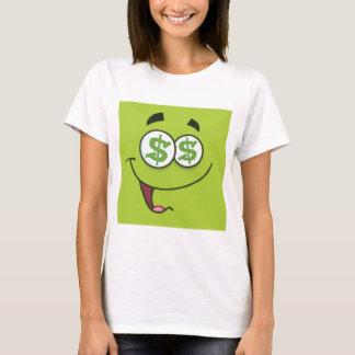 Camiseta Amo el dinero Emoji cuadrado