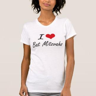 Camiseta Amo el diseño artístico de Mitzvahs del palo