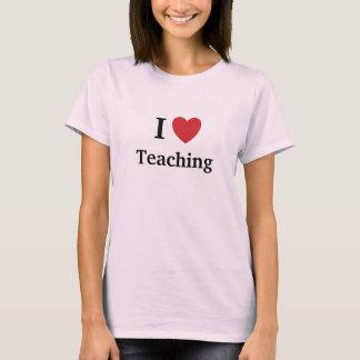 Camiseta Amo el enseñar de la enseñanza me amo profesor de