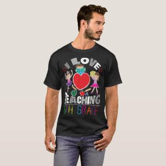 Camiseta Amo el enseñar del sexto profesor del grado de los