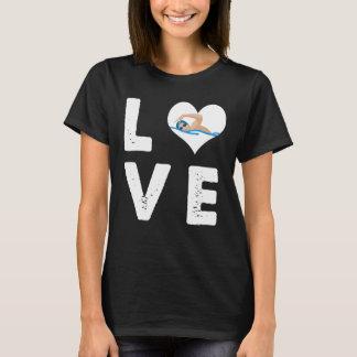 Camiseta Amo el nadar