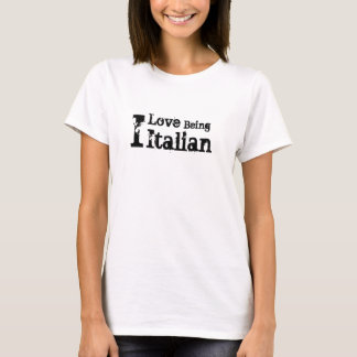 Camiseta Amo el ser italiano