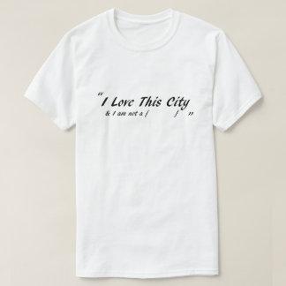 Camiseta Amo esta ciudad - para los hombres