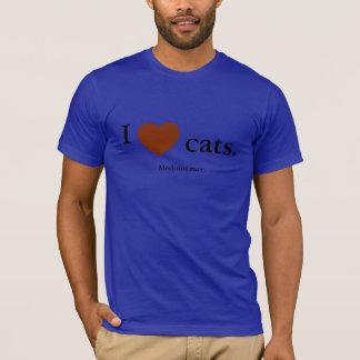Camiseta Amo gatos. Raro medio