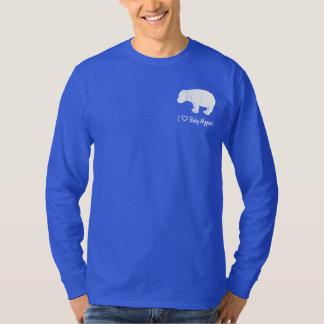 Camiseta Amo hipopótamos del bebé