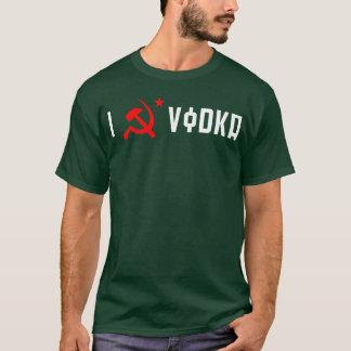 Camiseta AMO la copia NEGRA de la VODKA