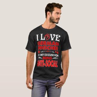 Camiseta Amo la excusa alemana del Pinscher para ser