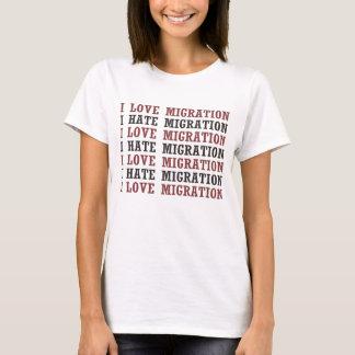 Camiseta Amo la migración que odio la migración etc etc