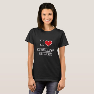 Camiseta Amo la plata esterlina