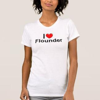 Camiseta Amo la platija del corazón