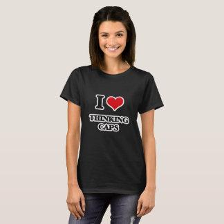 Camiseta Amo los casquillos de pensamiento