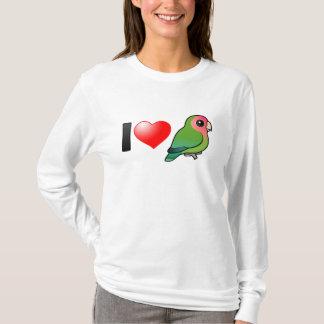 Camiseta Amo Lovebirds Melocotón-hechos frente
