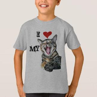 Camiseta Amo mi plantilla del personalizable del gato