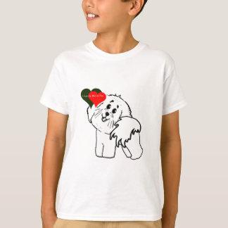 Camiseta Amo mis accesorios del perro de Bichon Frise