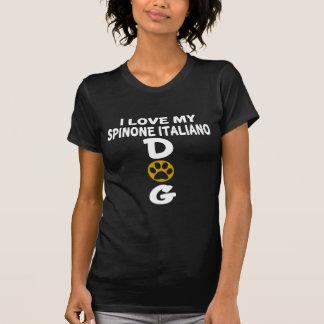 Camiseta Amo mis diseños del perro de Spinone Italiano