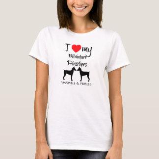 Camiseta Amo mis perros del Pinscher miniatura