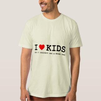 Camiseta Amo niños (solamente me no podría comer entero)