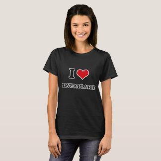 Camiseta Amo plateado