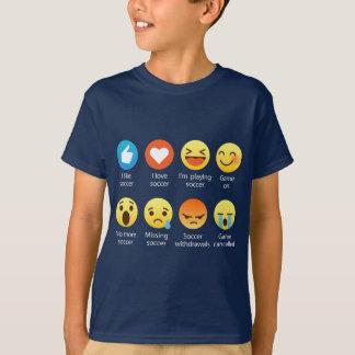 Camiseta Amo refranes divertidos del Emoticon del fútbol