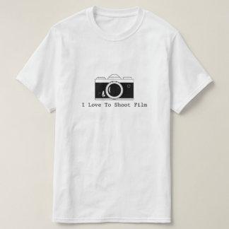 Camiseta Amo tirar la película