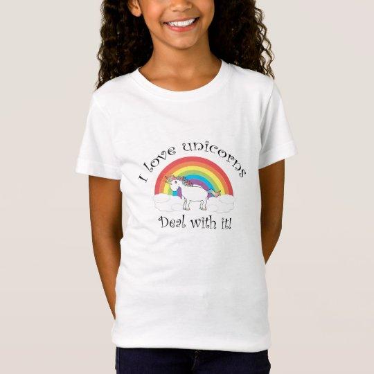 Camiseta ¡Amo trato de los unicornios con él!