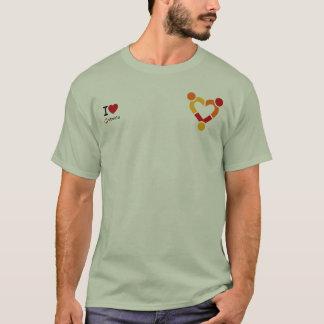 Camiseta Amo Ubuntu