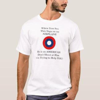 Camiseta amonestadora del prospecto del servicio