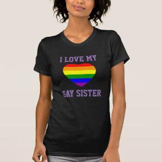 Camiseta Amor de la ayuda I del orgullo gay mi hermana gay