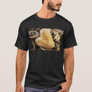 Camiseta Amor de madera de madera de la flor del Hydrangea