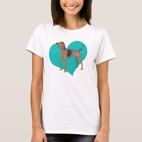 Camiseta Amor del Coonhound de los AE