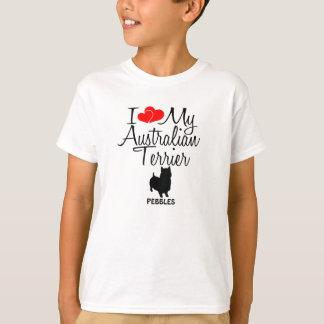 Camiseta Amor del personalizado I mi Terrier australiano
