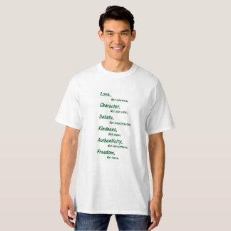 Camiseta Amor, no tolerancia