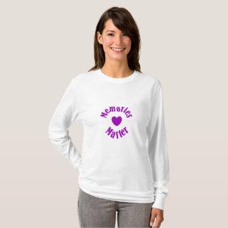 Camiseta Amor púrpura de las memorias de la cinta de la