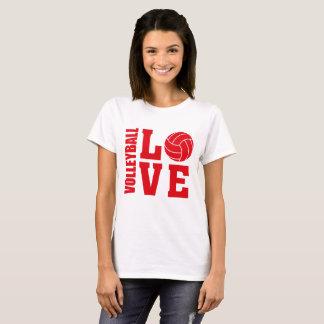 Camiseta Amor rojo del voleibol, voleibol