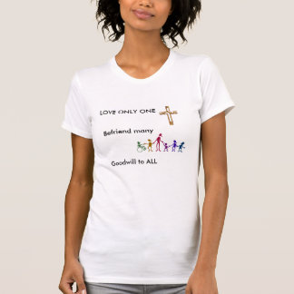 Camiseta Amor solamente uno, cristianismo