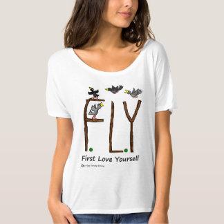 Camiseta Amor usted mismo de la MOSCA del lema primer