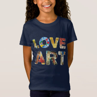 Camiseta Amos famosos del arte fresco del amor para la paz