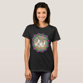 Camiseta Anadones y flores