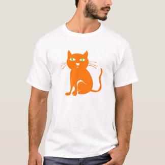 Camiseta anaranjada de Halloween del gato (niño)