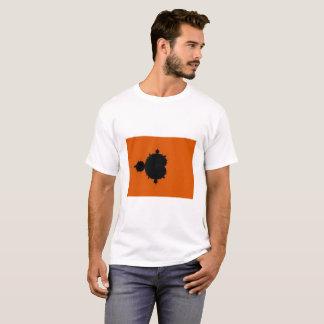 Camiseta anaranjada del fractal de Mandelbrot del