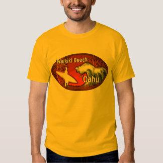 Camiseta anaranjada del individuo del arte del