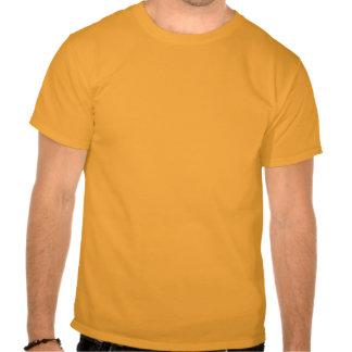Camiseta anaranjada del individuo del arte del suf